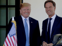 U.S. President Donald Trump welcomes Dutch Prime Minister Mark Rutte (R) to the White House July 2, 2018 in Washington, DC. Trump and Rutte were expected to discuss a wide range of bilateral issues during their meeting. (Photo by Win McNamee/Getty Images)