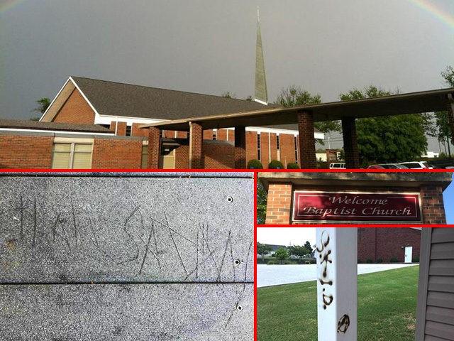 welcome-baptist-church-satan-graffiti