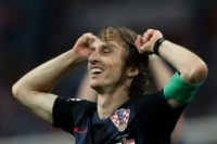 Luka Modric celebrates after Croatia beat Russia on penalties to reach the World Cup semi-finals