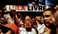 Supporters of former Brazilian president Luiz Inacio Lula da Silva -- in jail since April for corruption -- demonstrate in Sao Paulo demanding his release on a dizzying day of judicial orders and counter-orders