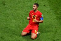 On a mission: Eden Hazard has captained Belgium to the World Cup semi-finals