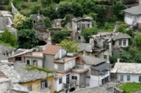 The Lolomani house, dating from the Ottoman period, in Albania's UNESCO-listed Gjirokastra is in ruins like dozens of others in the town