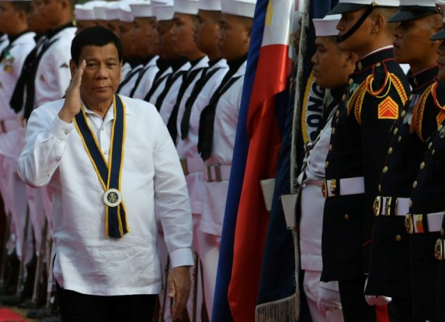 Duterte said over the weekend that he would not seek to stay in office beyond his term's end in 2022
