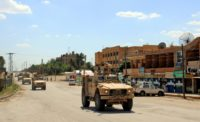 The Kurdish People's Protection Units led the victorious 2016 offensive to rid Manbij of the Islamic State group and had announced last month it would begin withdrawing from the town as the local Manbij Military Council could hold its own