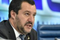 Italy's far-right Interior Minister Matteo Salvini said he would use any means possible to convince European partners to scrap sanctions against Russia