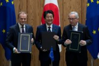 The deal signed in Tokyo is the largest ever negotiated by the EU and creates a massive free trade zone, eliminating tariffs for everything from Japanese cars to French cheese