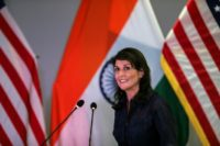 "US Ambassador to the United Nations Nikki Haley -- pictured last month in India -- described the Human Rights Council as the ""greatest failure"" of the UN"