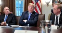 US President Donald Trump claimed at a cabinet meeting that no president has even been as 'tough' on Russia as he has