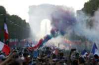 Hundreds of thousands of fans gathered to welcome home the victorious France World Cup team in Paris on Sunday
