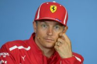 On the move?: Ferrari's Kimi Raikkonen