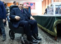 Algerian President Abdelaziz Bouteflika votes in legislative elections at a polling station in Algiers in May last year