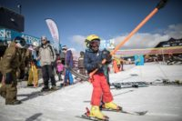 Thabang Mabari, 10, the son of Afriski employees, has been taking to the slopes since the age of three