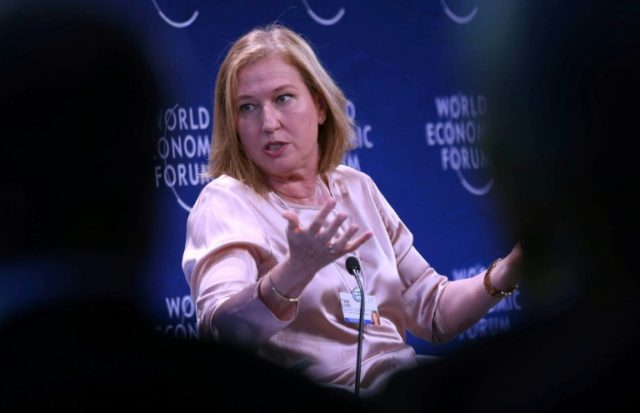 Former Israeli foreign minister Tzipi Livni attends the World Economic Forum held in Jordan on May 20, 2017