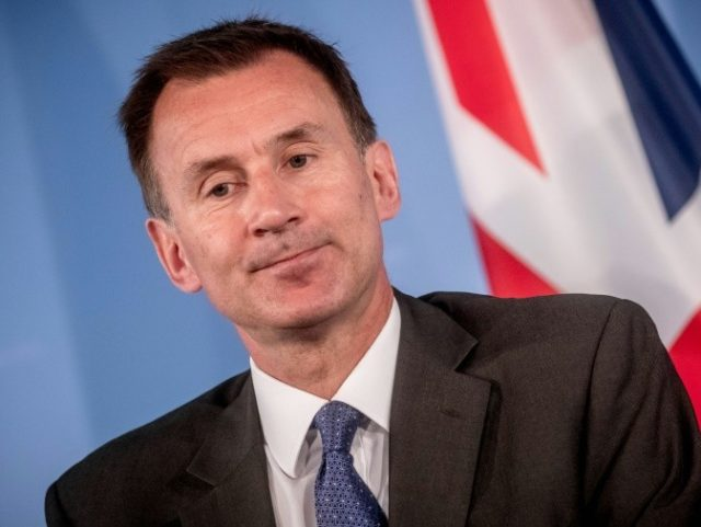 """British Foreign Secretary Jeremy Hunt said Britain will not """"blink"""" when it comes to Brexit, warning of the """"very real risk"""" of a no-deal"""