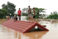 Several villages were submerged with hundreds of people feared missing