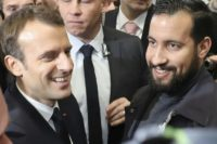 French President Emmanuel Macron with his disgraced former top security aide Alexandre Benalla
