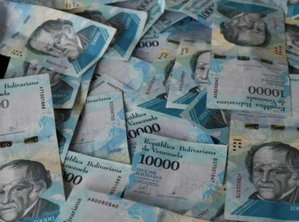 Venezuelan bolivars bank notes have become practically worthless due to inflation
