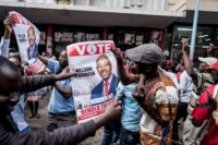 Supporters of opposition presidential candidate Nelson Chamisa are buoyant but authorities warn vote counting will likely take several more days to complete