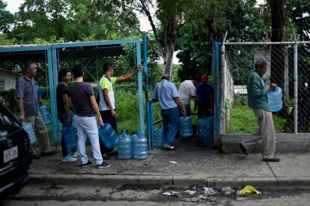 Venezuela's economic crisis has left residents in San Juan with a chronic water shortage