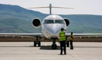 A file picture taken on March 20, 2018, shows an Iraqi Airways plane at the airport in the Iraqi Kurdish city of Sulaimaniyah