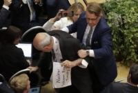 Apparent protester removed ahead of Trump-Putin conference