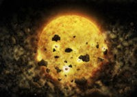 Astronomers spy nearby star that could be chomping a planet