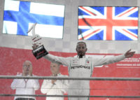 Hamilton wins German GP as rival Vettel crashes late on