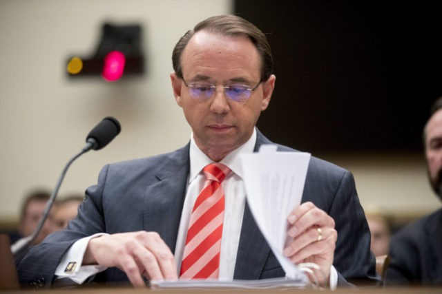 Top lawmakers to interview Rosenstein over reports he secretly taped Trump
