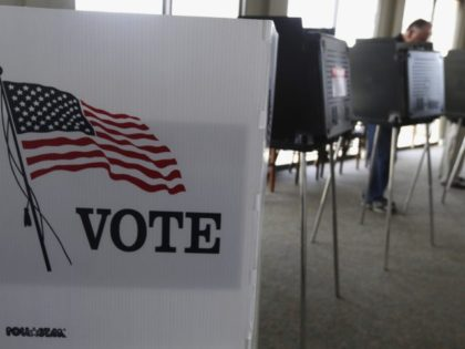 In this March 18, 2014 file photo, voters cast their ballots in Hinsdale, Ill. A new poll by the Associated Press-NORC Center for Public Affairs Research and MTV finds that most Americans ages 15 to 34 think voting in the midterm elections gives their generation some say about how the …