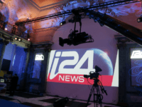 Cameras are pictured during a presentation of I24 News, an international 24-hour news television channel based in Jaffa Port, Tel Aviv, on March 12, 2014 in Paris. The channel was launched eight months ago. AFP PHOTO/FRANCOIS GUILLOT (Photo credit should read FRANCOIS GUILLOT/AFP/Getty Images)