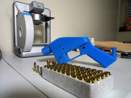 TO GO WITH AFP STORY BY ROBERT MACPHERSON A Liberator pistol appears on July 11, 2013 next to the 3D printer on which its components were made. The single-shot handgun is the first firearm that can be made entirely with plastic components forged with a 3D printer and computer-aided design …