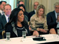 Trump Technology Kiron Skinner, Director and Associate Professor, Institute for Politics and Strategy at Carnegie Mellon University, speaks during an American Technology Council roundtable in the State Dinning Room of the White House, Monday, June 19, 2017, in Washington.