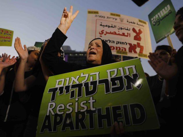Anti-Nation State law protest Israel apartheid (Ahmad Gharabli / AFP / Getty)