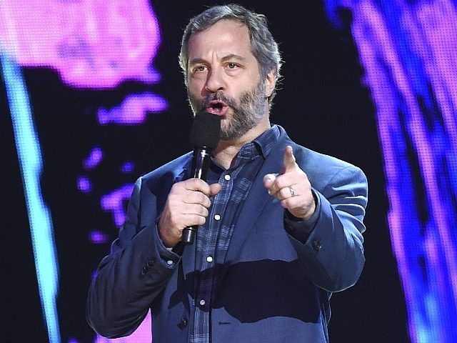 In this Sunday, Aug. 13, 2017, file photo, Judd Apatow presents the decade award at the Teen Choice Awards at the Galen Center in Los Angeles. Apatow is among the stars weighing in on the firing of movie mogul Harvey Weinstein from the company he co-founded. The move came after …