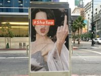 Los Angeles street artist Sabo plasters large posters of embattled actress and #MeToo activist Asia Argento, who has reportedly settled with an accuser who claimed she sexually assaulted him when he was underage. (Photo courtesy unsavoryagents.com)