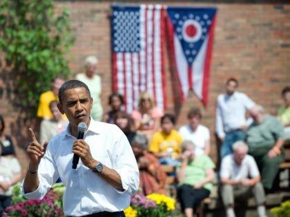 Barack Obama at Kent State (Saul Loeb / AFP / Getty)