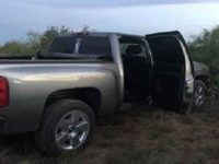 The driver of this pickup truck allegedly nearly struck a Border Patrol agent during a suspected human smuggling event in the Laredo Sector.