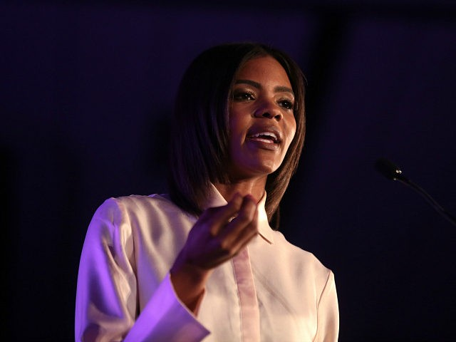 Candace Owens speaking with attendees at the 2018 Young Women's Leadership Summit