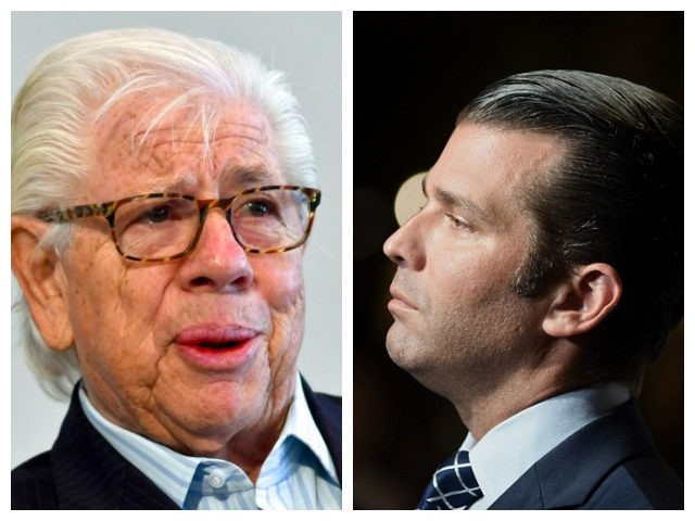 Combo picture of Carl Bernstein and Don Trump Jr