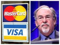 David Horowitz Freeom Foundation has been blocked from accepting credit card donations by Visa and Mastercard