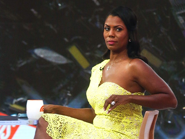 "NEW YORK, NY - AUGUST 13: Omarosa Manigualt-Newman waits to promote her new book on The ""Today Show"" on August 13, 2018 in New York City. Omarosa Manigault Newman Former White House aide, recognizes that she taped her firing process of White House just to protect herself. (Photo by Eduardo …"