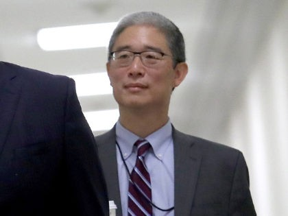 WASHINGTON, DC - AUGUST 28: Bruce Ohr (R), former U.S. associate deputy attorney general, arrives for a closed hearing with the House Judiciary and House Oversight and Government Reform Committees on Capitol Hill on August 28, 2018 in Washington, DC. Ohr is expected to be questioned about alleged contact with …