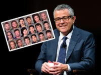 NEW YORK, NY - OCTOBER 07: Jeffrey Toobin attends SAG-AFTRA Foundation's Conversations with Tom Brokaw at the SAG-AFTRA Foundation Robin Williams Center on October 7, 2016 in New York City. (Photo by D Dipasupil/Getty Images for SAG-AFTRA Foundation) INSET: Mugshots of Antifa demonstrators arrested by Portland, Oregon police.