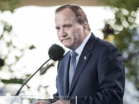 STOCKHOLM, SWEDEN - JUNE 06: Prime Minister of Sweden Stefan Lofven speaks during the national day celebrations at Skansen on June 6, 2017 in Stockholm, Sweden. (Photo by Michael Campanella/Getty Images)