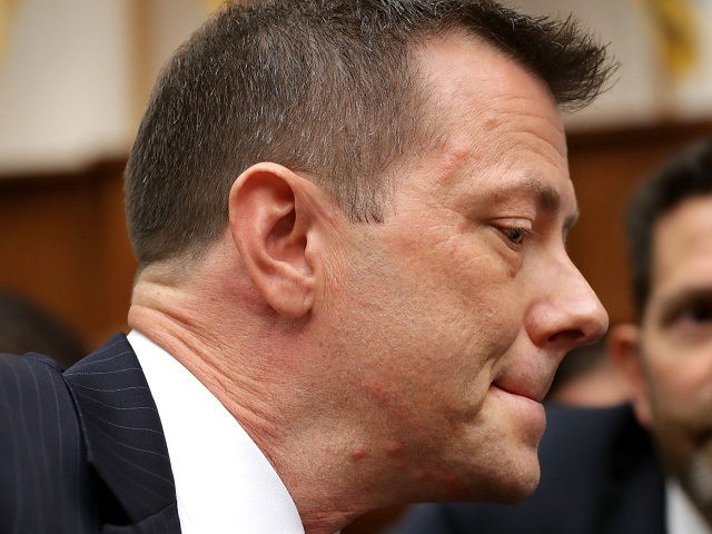 WASHINGTON, DC - JULY 12: Deputy Assistant FBI Director Peter Strzok prepares to testify before a joint hearing of the House Judiciary and Oversight and Government Reform committees in the Rayburn House Office Building on Capitol Hill July 12, 2018 in Washington, DC. While involved in the probe into Hillary …