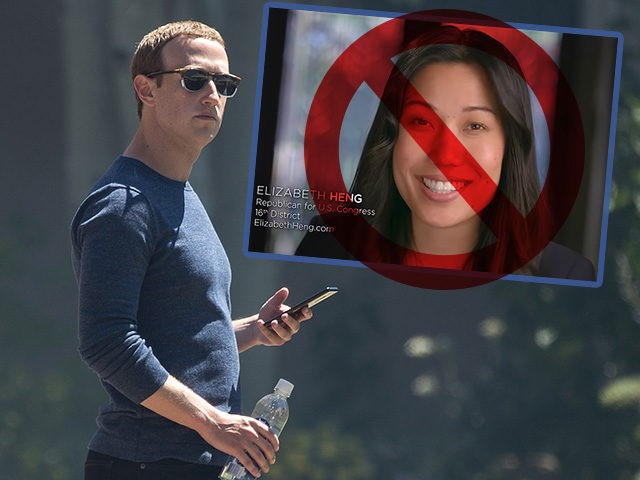Mark Zuckerberg and Facebook ban ad by congressional candidate Elizabeth Heng