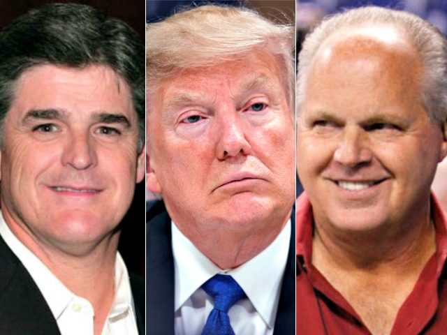 Image result for Rush Limbaugh and Sean Hannity and trump.