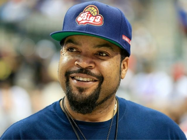 Ice Cube looks on during week six of the BIG3 three on three basketball league at American Airlines Center on July 30, 2017 in Dallas, Texas. (Photo by Ron Jenkins/BIG3/Getty Images)