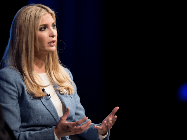 US President Special advisor and daughter Ivanka Trump participates in a conversation on workforce development and news of the day at the Newseum in Washington on August 2, 2018. (Photo by Jim WATSON / AFP) (Photo credit should read JIM WATSON/AFP/Getty Images)