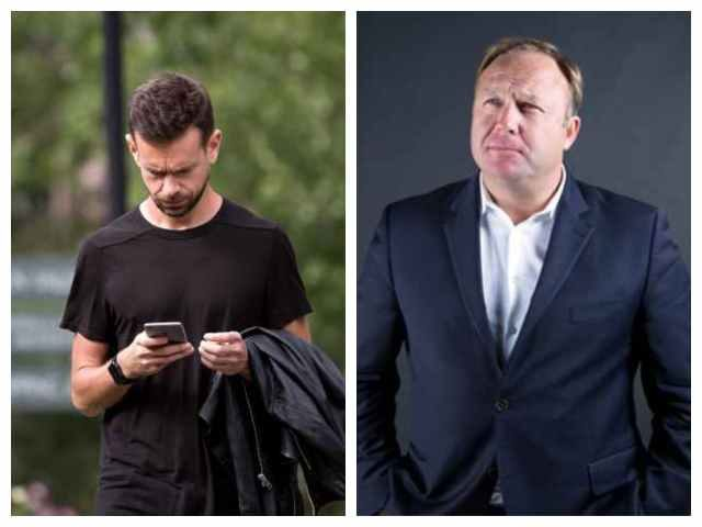 Jack Dorsey and Alex Jones